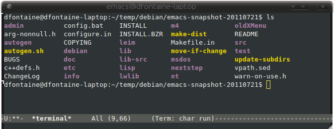 Emacs ANSI colors